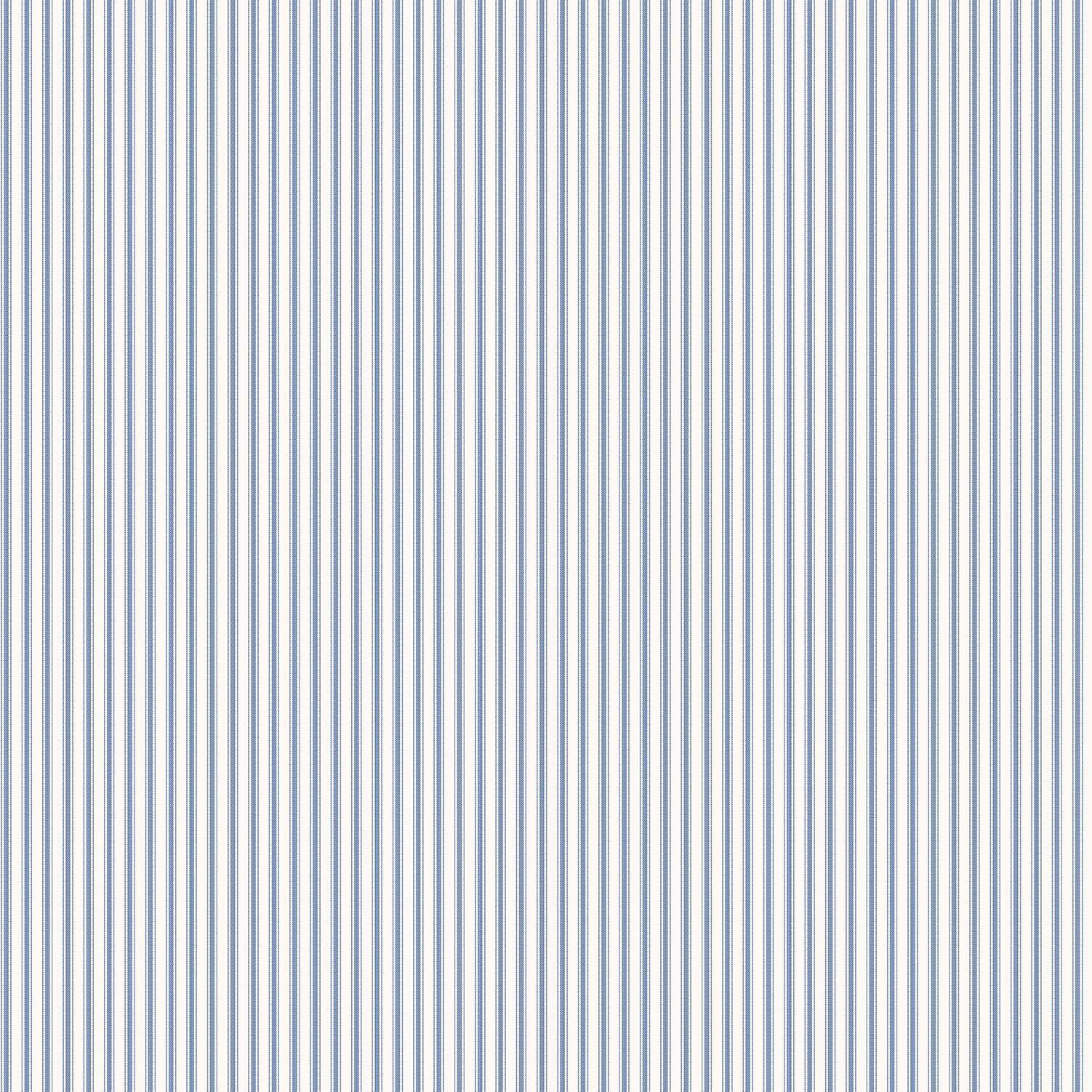 blå og hvid stribet tapet