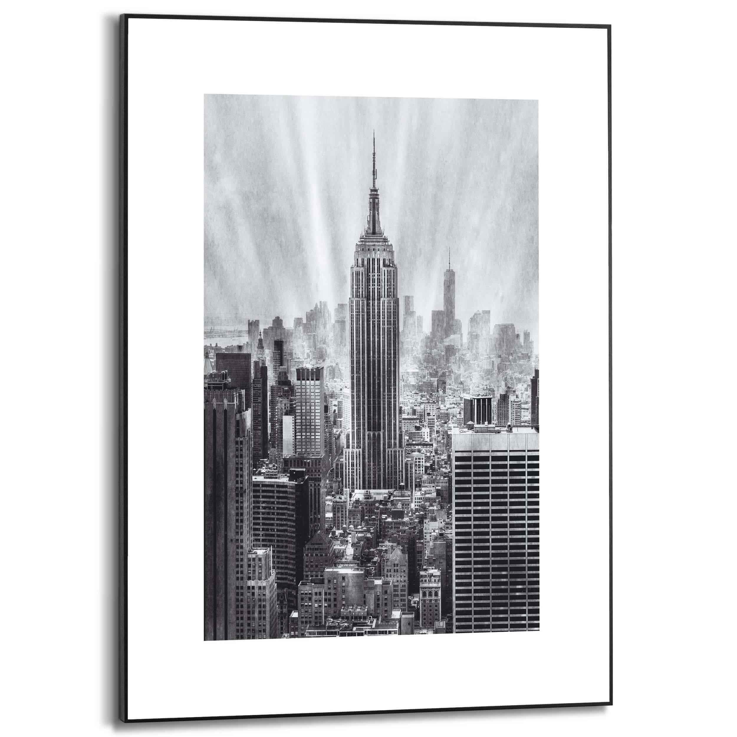 Picture of: Billede Af New York Skyline Hojhuse 50x70cm Flot Sort Hvid Plakat