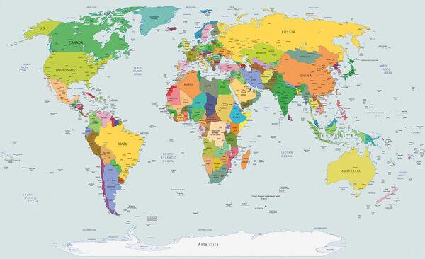 Verdenskort Fototapet Kob Flotte Foto Tapeter Med Verdenskortet