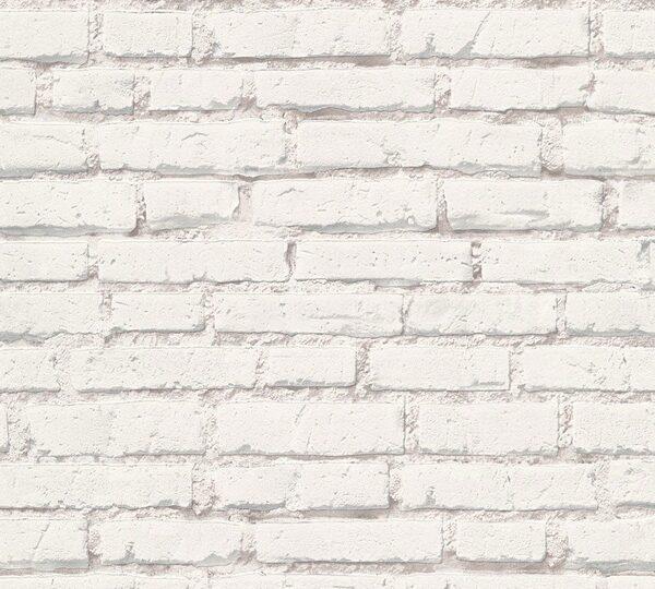 tapet mursten grå